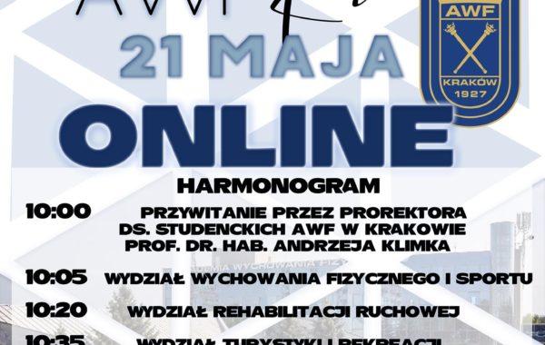 Zaproszenie na Dzień Otwarty na AWF w Krakowie